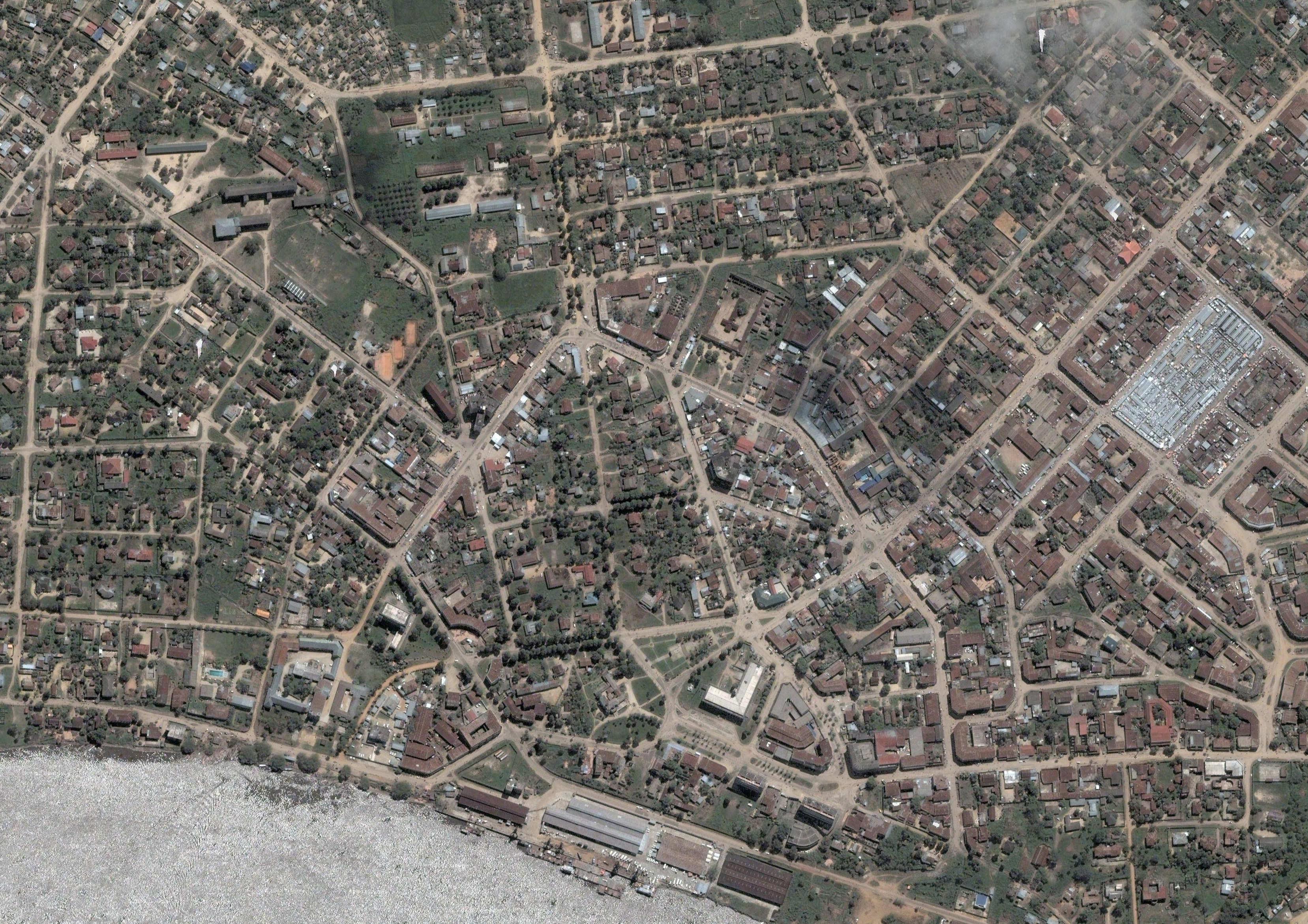 Vue aérienne de Kisangani