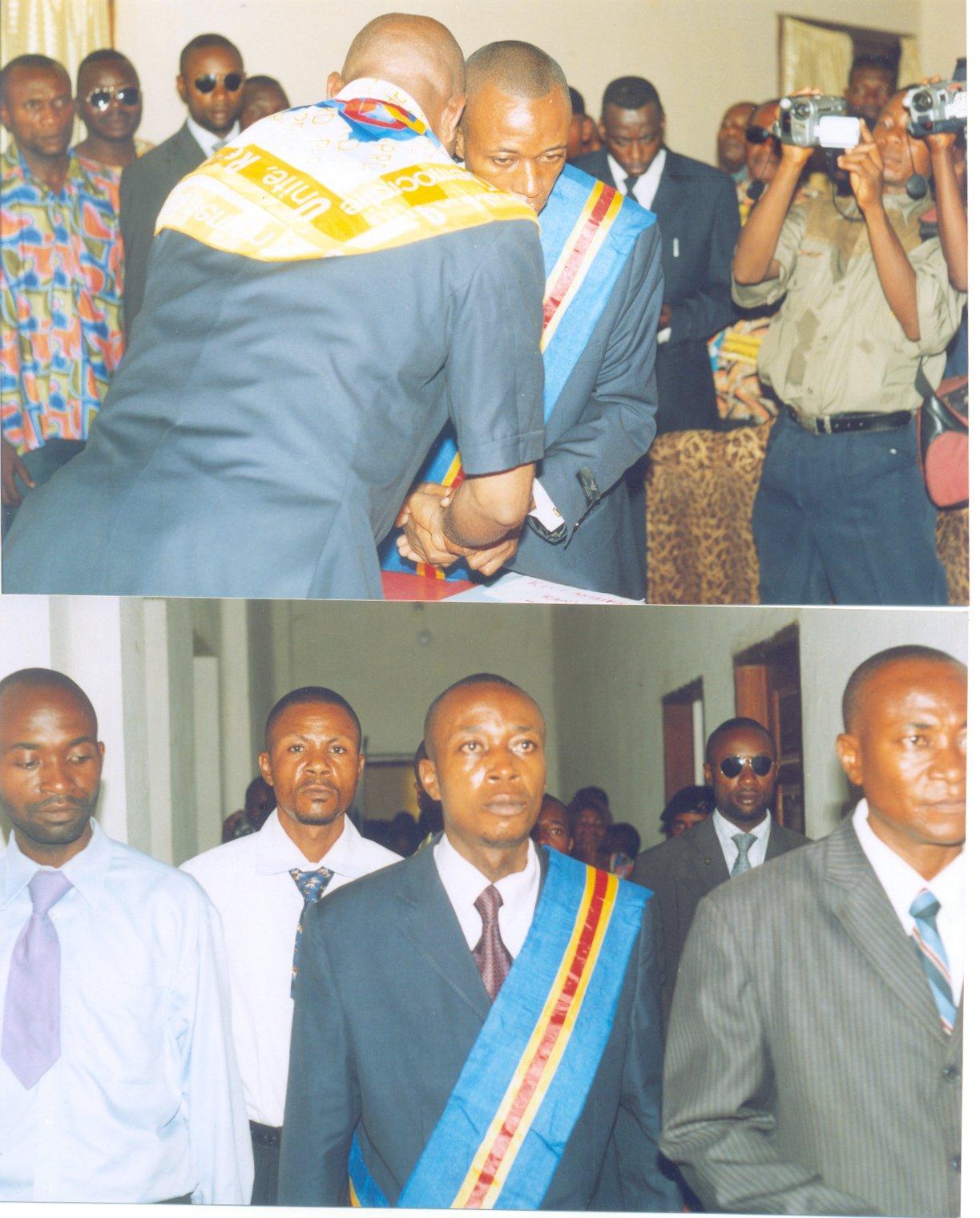 Le Maire sortant félicite le nouveau Maire de la ville de Kisangani, le Dr. Guy Shilton BAENDO