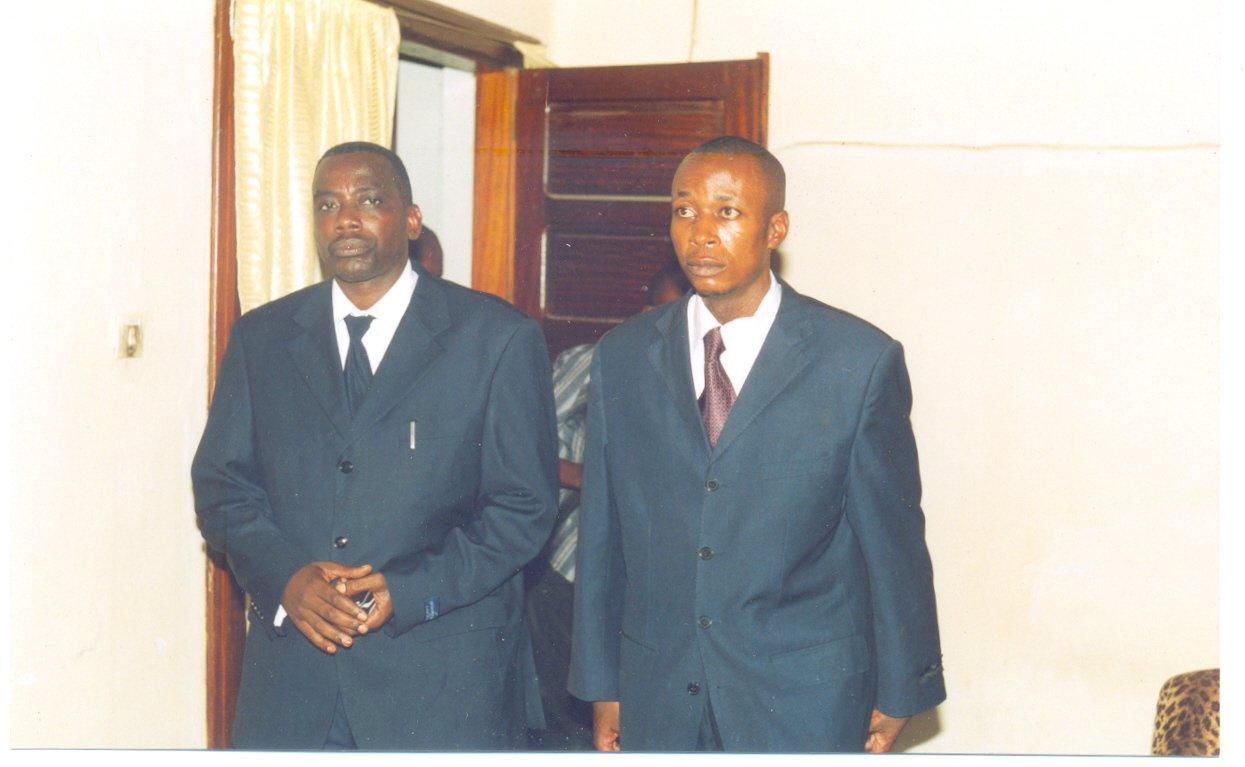 La nouvelle équipe :Dr. Guy Shilton BAENDO et M. BONANE, respectivement Maire et Maire adjoint entrants