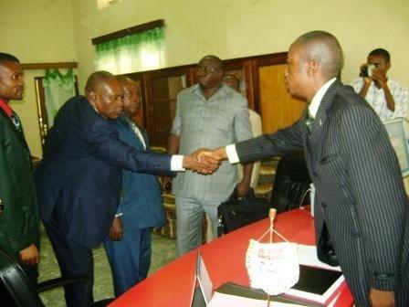 Le Maire de la Ville accueille la délégation du MINIDECAT
