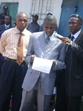 Mot de remerciement du Gérant du Marché central de Kisangani