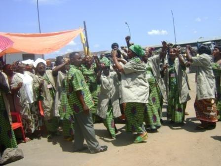 Les bénéficiaires : vendeuses et vendeurs du Marché central de Kisangani